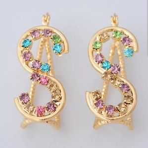 New 18K Gold Plated S Unique Drop Earrings ♡